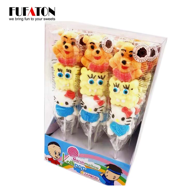Disney Character shaped Marshmallow kebab Lollipop Candy