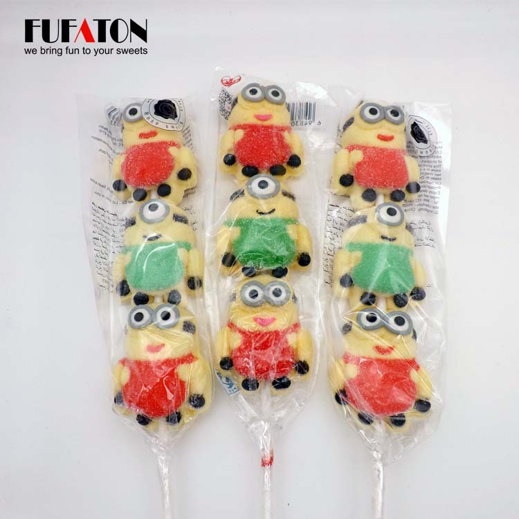 Minions Shaped marshmallow lollipop Kebab Candy