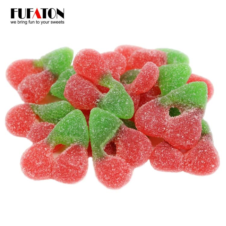 Strawberry shaped gummy candy