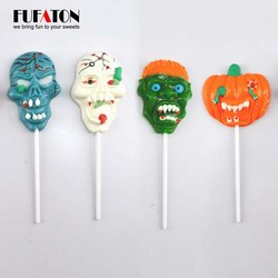 Hand Decorated Scary Skull lollipops for Halloween