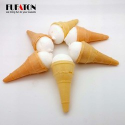 Ice Cream cone Shaped Marshmallow Candy
