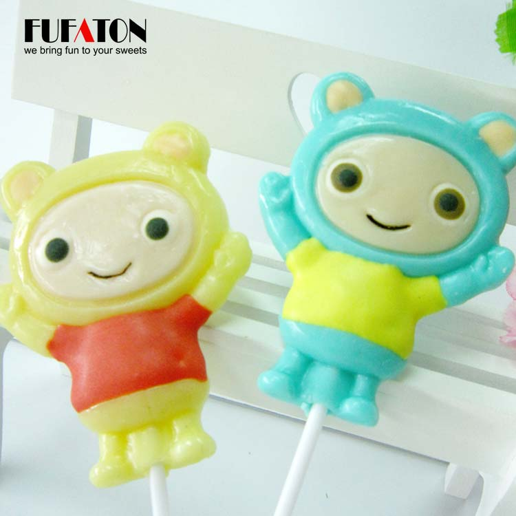 50g Teletubbies shaped character candy lollipop for boys and girls