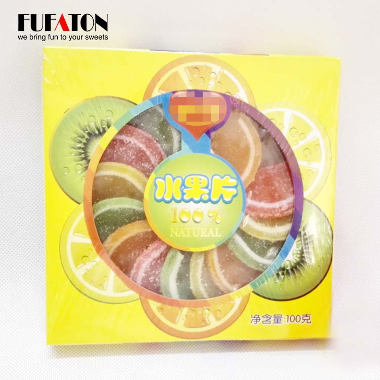 Hand Decorated fruit shaped jelly candy