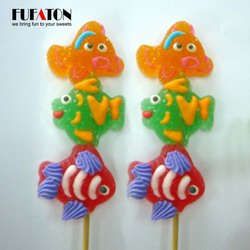Ocean fish shaped jelly candy Kebab