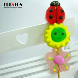 Summer flowers and bugs shaped jelly candy kebab