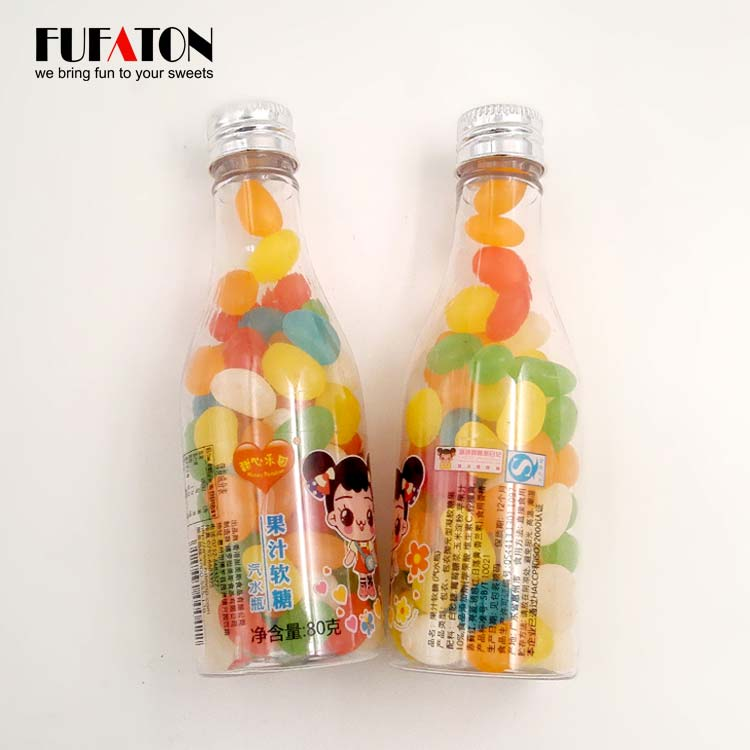 Jelly Beans in container Milk Bottle jar and tin