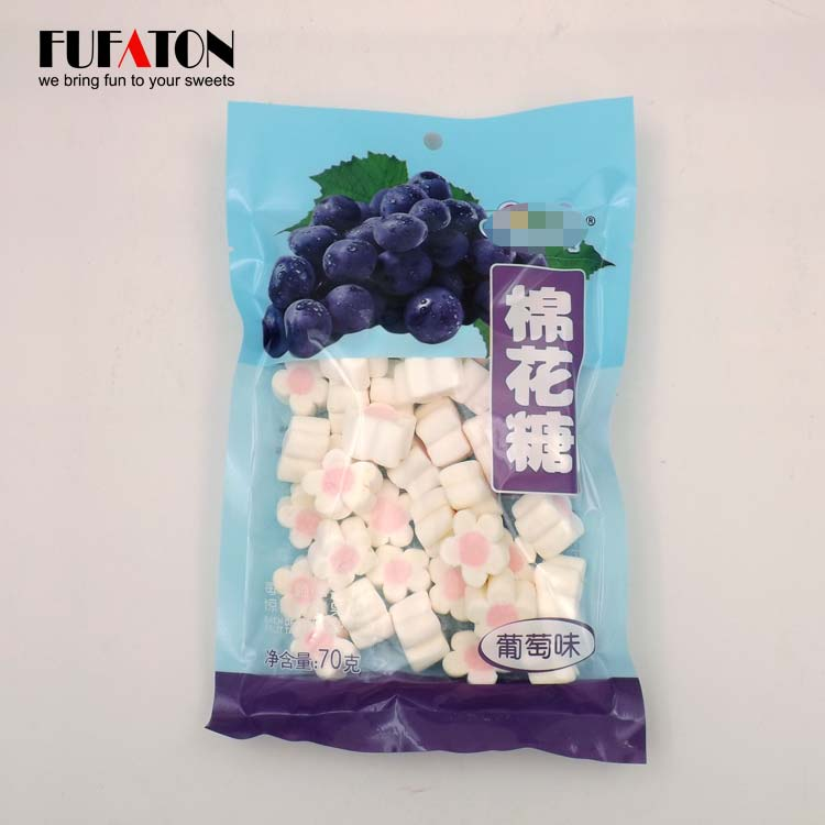 Flower shaped Marshmallows in bags