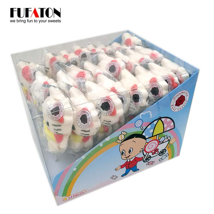 Hello Kitty Shaped marshmallow Lollipop Candy in Display Box
