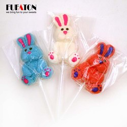 Lovely Rabbit Shaped marshmallow Lollipop Candy