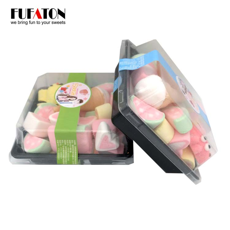 Mixed marshmallows in lunch box for wholesale
