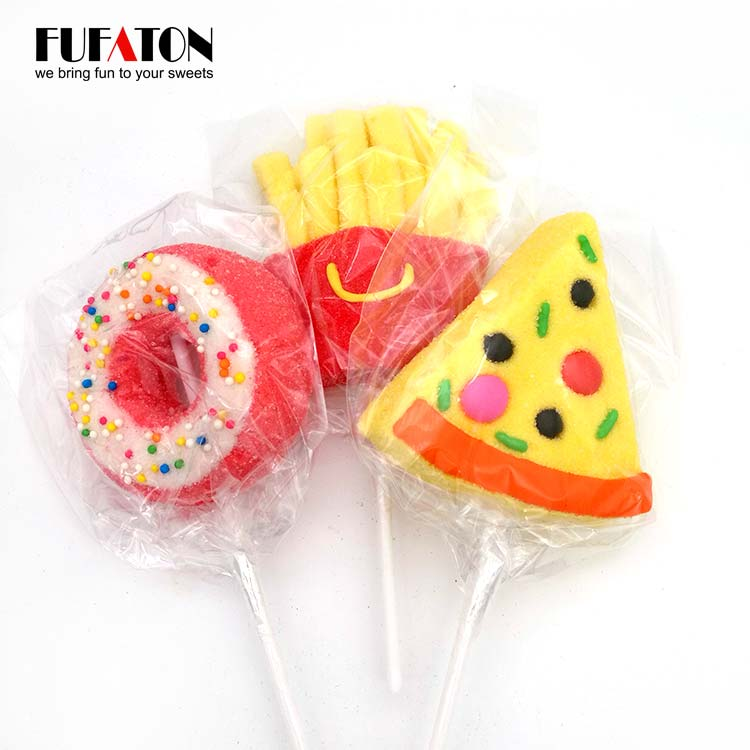 Fast Food Marshmallow lollipop candy