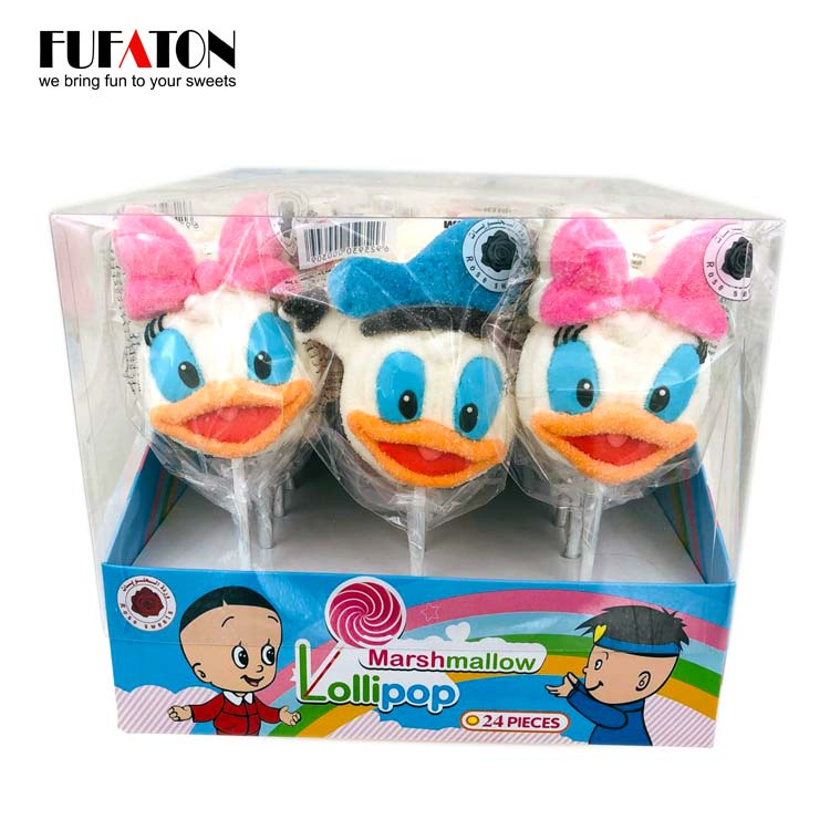 Disney cartoon shaped marshmallow lollipop candy for Children