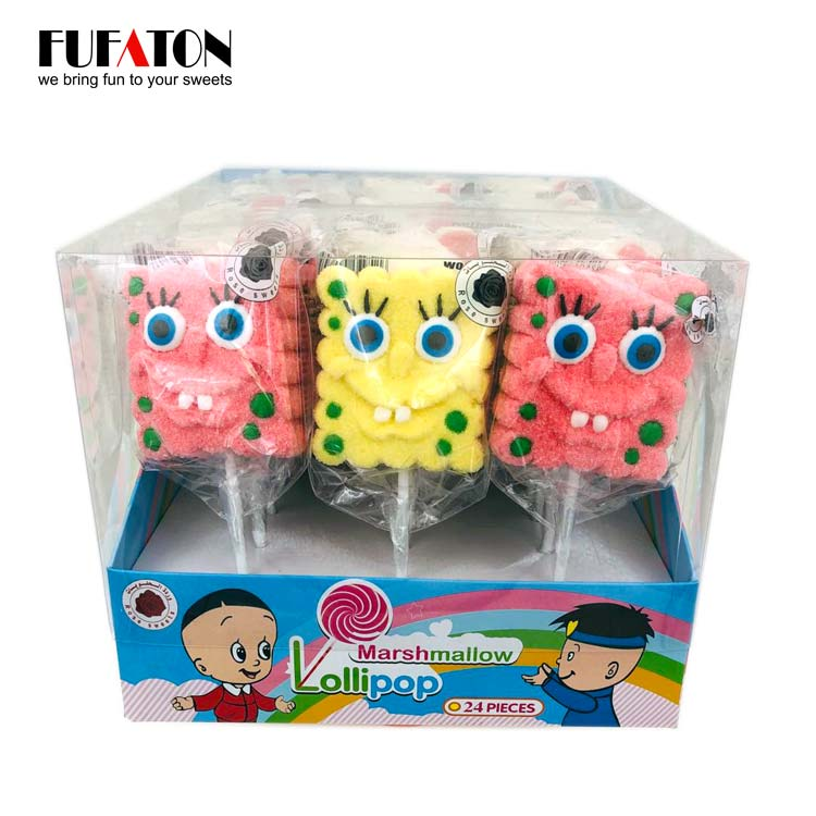 Sponge Bob Shaped Marshmallow Candy Lollipops