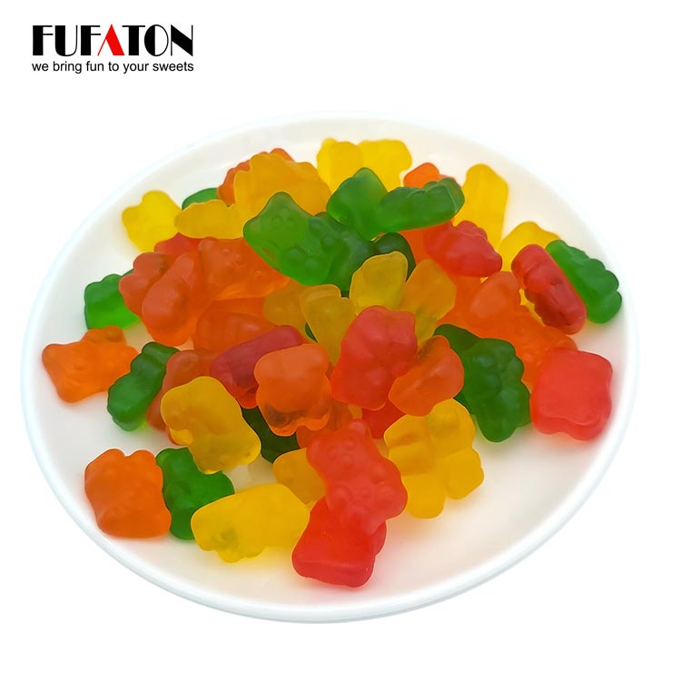 Gummy bear shaped candy