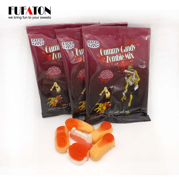 Gummy body parts finger shaped candy for Halloween