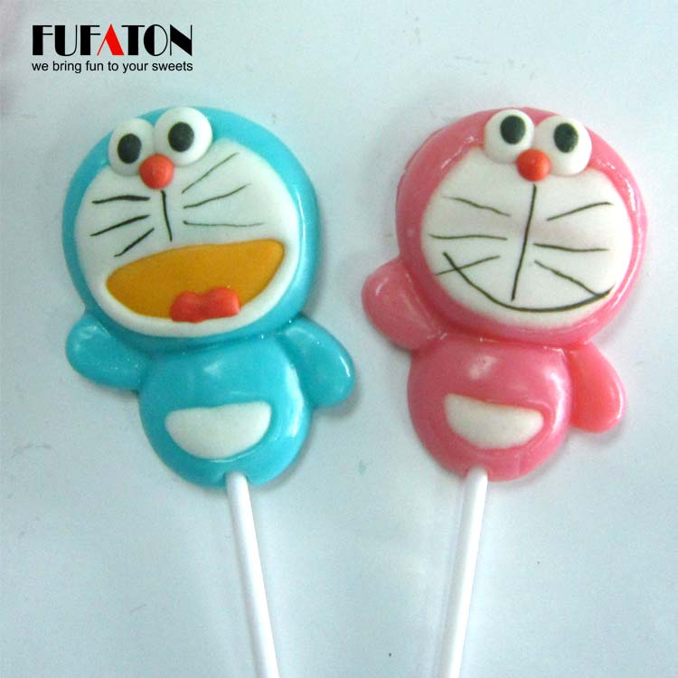 Doraemon shaped candy lollipop for play and eat