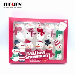 Decorated Mallow Snowman for New year Christmas Season