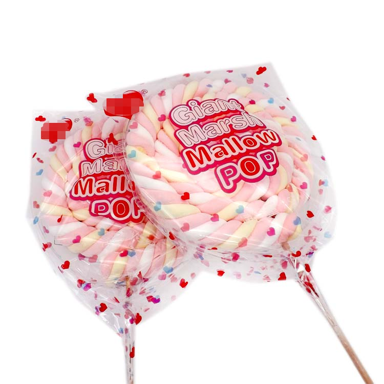 Giant Twist Poofy Marshmallow lollipop and Mallow Pop
