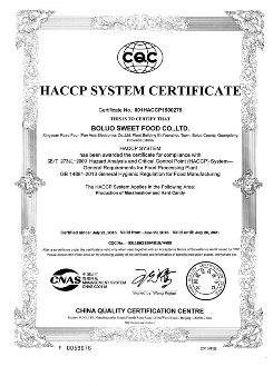 sweets certificates